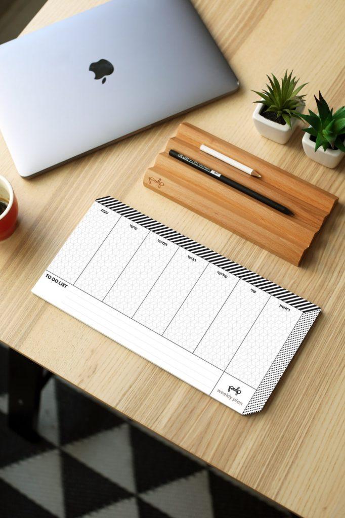 לוח התכנון השבועי של pulp